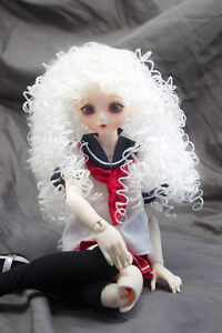 Doll-Wig-Super-Curly-Wild-Hair-Snow-White-BJD-Ball-Jointed-Doll-Size-6-7-8-9