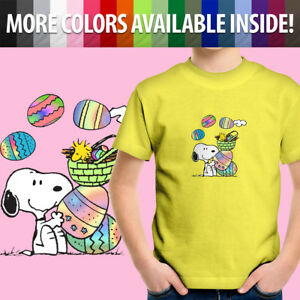 Peanuts-Snoopy-Woodstock-Easter-Eggs-Spring-Cute-Toddler-Kids-Tee-Youth-T-Shirt