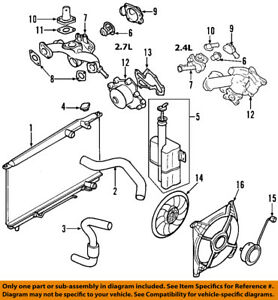 hyundai oem 01 06 santa fe engine coolant thermostat 2550037200 ebay 2000 hyundai accent engine diagram image is loading hyundai oem 01 06 santa fe engine coolant