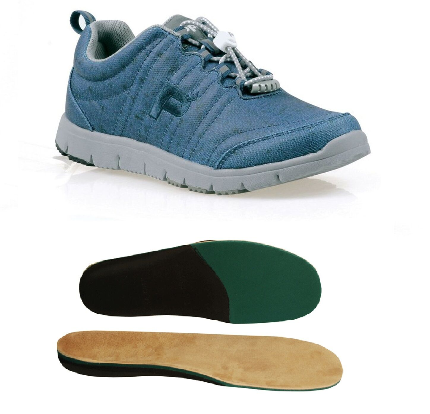 Propet Travel Walker Canvas bleu W3259 with Therapeutic Arch Support Insoles
