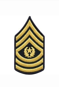 Lot-of-2-US-Army-Command-Sergeant-Major-E-9-Rank-Chevron-Patches-ASU-DRESS-Blues