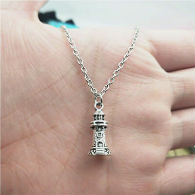 Lighthouse silver Necklace pendants fashion jewelry accessory,creative gifts