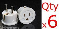 Plug Adapter 6PK- European Asian Schuko Plug Adapter USA to Europe / Asia