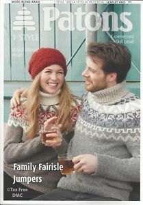 d1e7f6a0e VAT Free HAND KNITTING PATTERN ONLY Patons Family Fairisle Jumpers ...