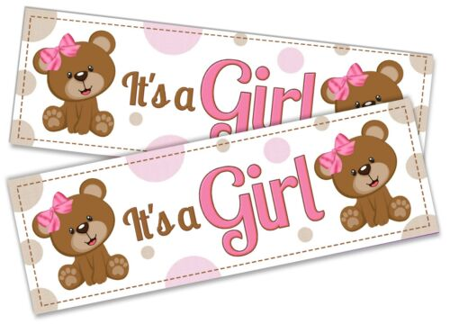 x2 It/'s A Girl Banner Celebration Homecoming Boy Girl Baby Welcome Newborn 90