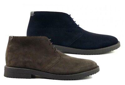 GEOX RESPIRA BRANDLED U743ME scarpe uomo polacchine inglesine mocassino camoscio | eBay