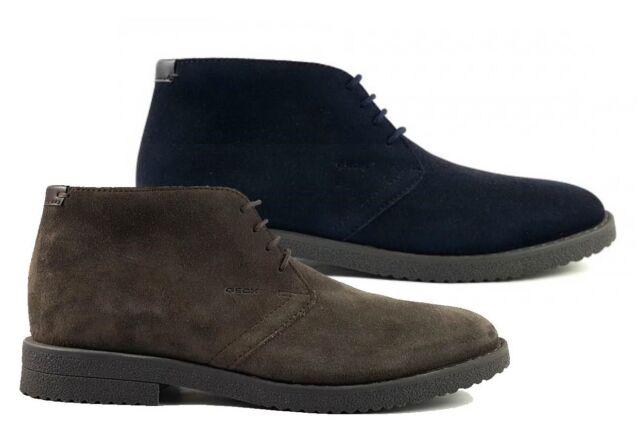 Gamuza De Respira Zapatos E U Azul Para Geox Hombre Botas Marino XzHqaz