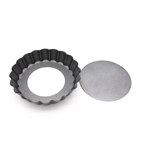 4/'/' Tart Pie Pan Cake Baking Tray Non Stick Loose Base Mold Removable Botto q2w