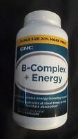 Gnc B-complex + Energy Dietary Supplement 144 Capsules Energy Boosting Formula