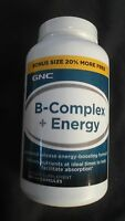 Gnc B-complex + Energy Dietary Supplement 144 Capsules Energy Boosting Formula