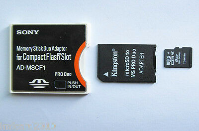 micro sdhc 8gb plus memory stick pro duo adapter compact flash card Adapter
