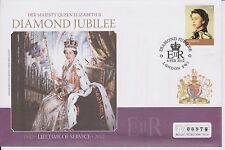 QEII DIAMOND JUBILEE FDC MERCURY 2012 LIFETIME OF SERVICE 6TH FEB 2012