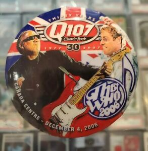 Vintage-Pin-Back-Pinback-Button-Great-For-Cap-Backpack-The-Who-Concert-Q107