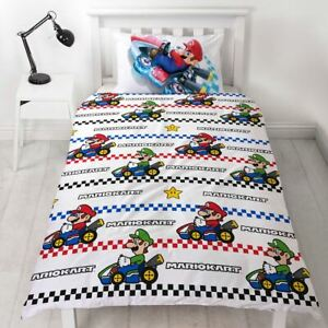 Nintendo-Super-Mario-Gravite-Set-Housse-de-Couette-Simple-2-IN-1-Design-Enfants