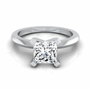 1Ct-Princess-Cut-Moissanite-Rings-Solitaire-Solid14k-White-Gold-Engagement-Ring
