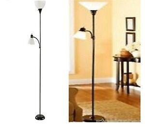 72 mainstays combo floor lamp reading home light lamp office modern image is loading 72 034 mainstays combo floor lamp reading home aloadofball Choice Image