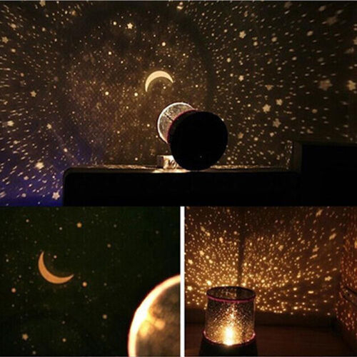 Romantic LED Cosmos Star Master Sky Starry Night Projector Bed Light Lamp IY