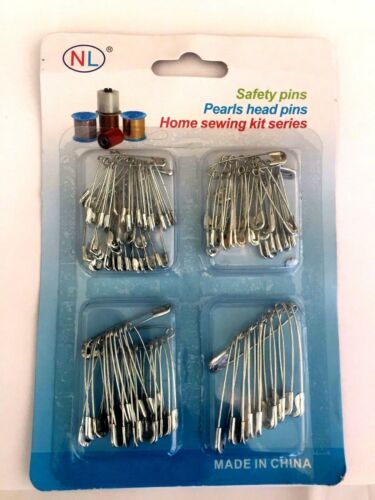 100  Pack Multi Sized Silver and Gold Safety Pins