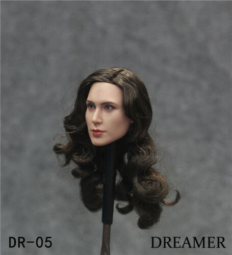 """DREAMER DR-005 Planted Hair 1//6 Female Head Carving Fit 12/"""" Action Figure Toys"""