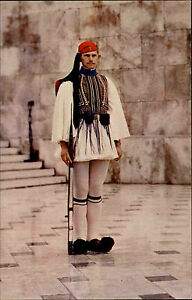 Athen-Athenes-Griechenland-Greece-AK-1960-70-Evzone-Guard-Uniform-Wachen