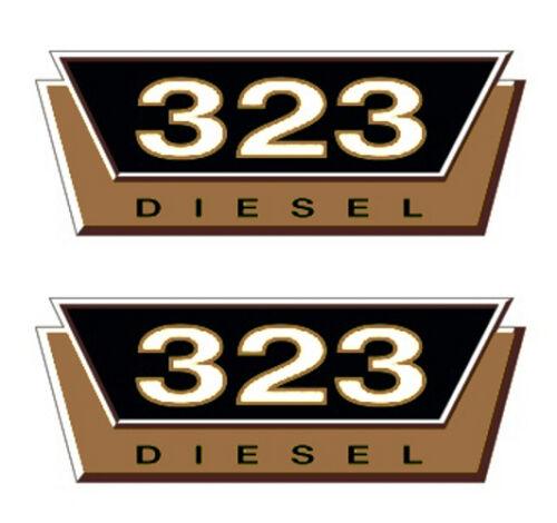 IHC 2 x Typenaufkleber Gold 323 Logo Emblem Sticker Label ca 20x7,5cm