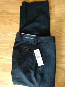 Austin Reed London Dress Pants Blue Burgundy Stripe 32 X 29 Windsor Woolens Ebay