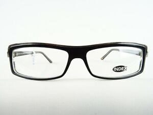 Men-039-s-Glasses-Frames-With-Narrow-Glasses-Black-Silver-Rectangular-Size-M