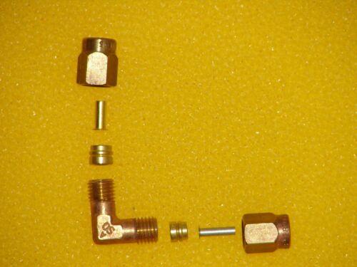 Si adattano di tenuta set J-Boiler Scaldabagno gomito 4 MM /& connettore 5mm