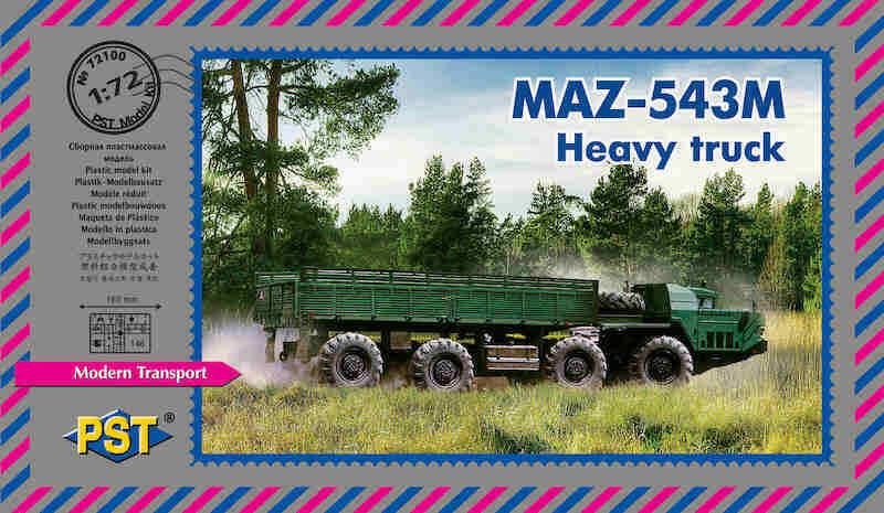 Pst 1 72 MAZ-543M Pesante Camion  72100