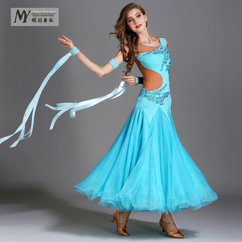 2018 Nouveau Latino Salsa robe bal Standard latino-Tournoi Robe  my794