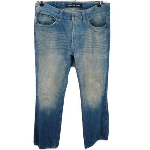 "Express Blue Jeans Mens ""BLAKE"" Loose fit Boot Cu"