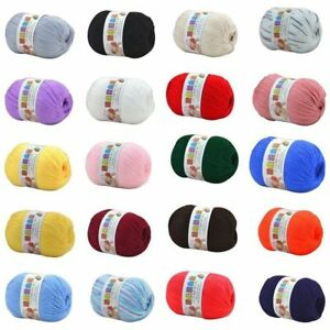 50g-Baby-Soft-Cashmere-Silk-Wool-Hand-Knitting-Crochet-Yarn-Ball-Woolcraft-Ball