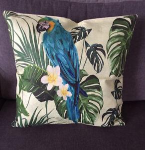 Kissenhuelle-Papagei-Paradies-Vogel-45x45-cm-mit-Reissverschluss
