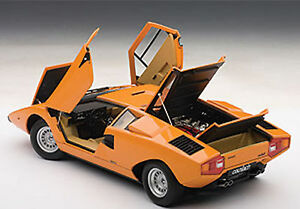 Autoart Lamborghini Countach Lp400 Orange Color 1 18 Scale New In