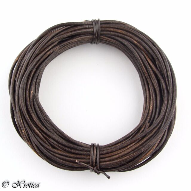10 meters 11 yards Beige Round Leather Cord 1mm