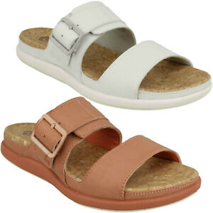 Details about LADIES CLARKS STEP JUNE TIDE CLOUDSTEPPERS MULE SUMMER FLAT SLIP ON SANDALS SIZE