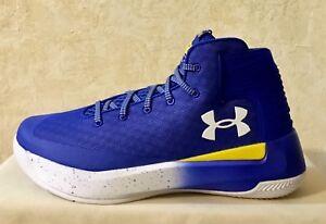 Men-Under-Armour-SC-Curry-3-ZERO-Basketball-Shoes-Blue-yellow-White-1298308-400