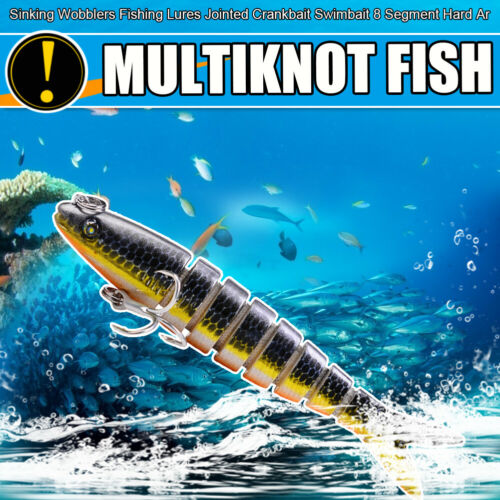 9cm 7g Sinking Wobblers Fishing Lures Multi Jointed Hard Artificial Bait