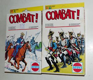 2x-A-Toys-ESCI-Combat-1227-franz-Soldaten-1218-poln-Speerwerfer-1-72-OVP