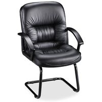 Lorell Tufted Leather Executive Guest Chair - Llr60114