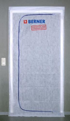 10x Berner Staubschutztür m Reißverschluß mehrfach verwendbar waschbar Klebeband