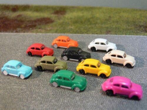 1//160 N-Spur VW Käfer verschiedene Farben 10 Stück Set 2C