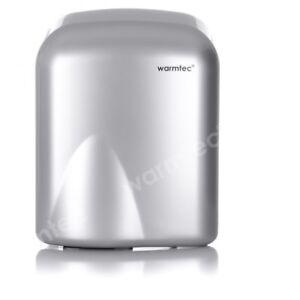 Elektro-Handtrockner-Haendetrockner-1650W-Silber-Wandmontage-Haendefoen-Toilette