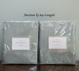S2 Pottery Barn Belgian Linen Libeco Unlined Curtains
