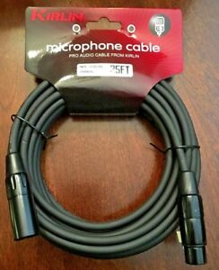 XLR-Microphone-Cable-25ft-Kirlin-Male-to-Female-20AWG-New