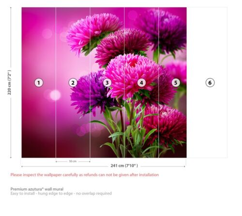 Pink Scottish Thistles Wall Mural Wallpaper WS-42304
