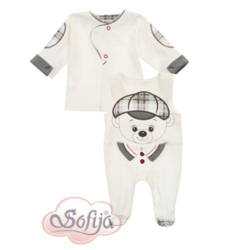 2 Tlg SET Baby Jungen Gr.56 Taufe Anzug Taufanzug Baumwolle Festlich