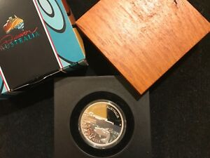Australia-1-dollar-2008-Discover-Darwin-Fish-Silver-999-One-ounce-Proof-coin