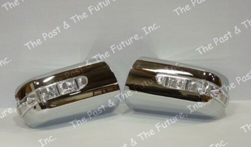 96 97 98 99 Mercedes Benz E Class W210 Style Door Mirror Cover w// LED Chrome
