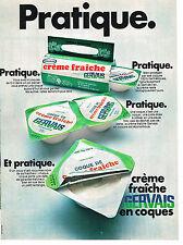 PUBLICITE  1969   GERVAIS  creme fraiche en coques